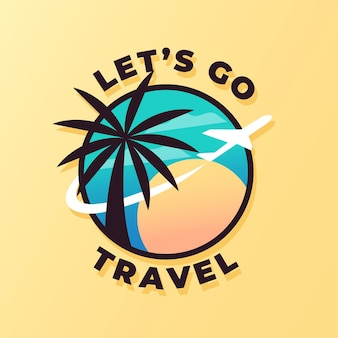 Modello di logo di viaggio dettagliato