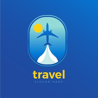 Detailed travel logo template