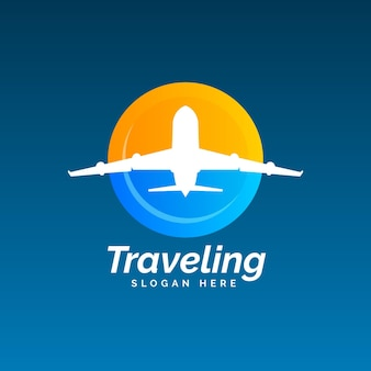 Detailed travel logo theme