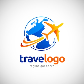Detailed travel logo