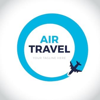 Logo di viaggio dettagliato Vettore gratuito