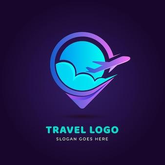Detailed travel logo