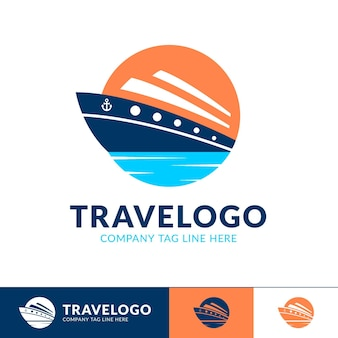 Detailed traveling company logo