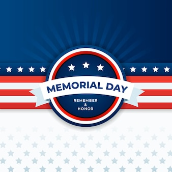 Detailed usa memorial day illustration