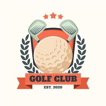 Подробный винтажный логотип для гольфа