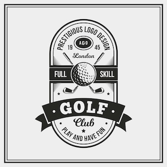 Detailed vintage golf logo