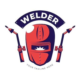 Detailed welder logo template