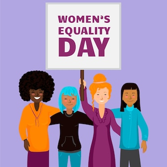 Detailed women's equality day illustration