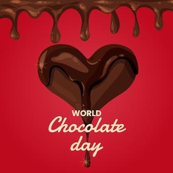 자세한 세계 초콜릿 하루 그림