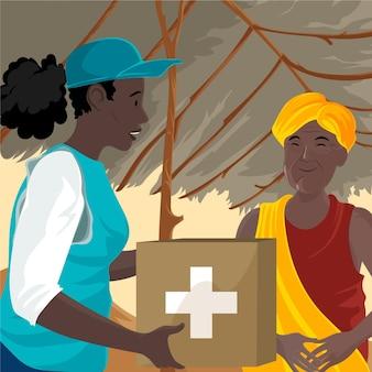 Illustrazione dettagliata della giornata mondiale umanitaria
