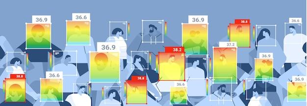 비접촉 열화상 ai 카메라로 확인하는 사람들의 체온 상승 감지 코로나바이러스 발생 중지