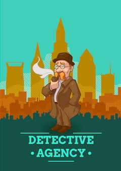 Detective agency illustration