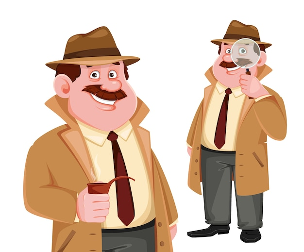 Detective character set of two poses