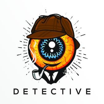 Detective logo symbol design illustration, design element