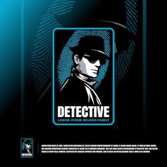 Detective logo template