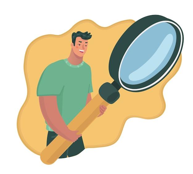 Детектив с увеличительным стеклом