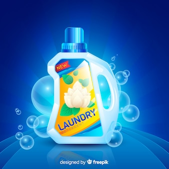 Detergent advertisement with realistic design