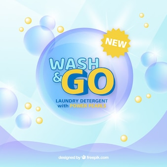 Detergent background with bubbles