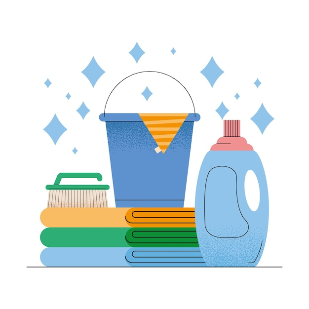 Detergent and household icons