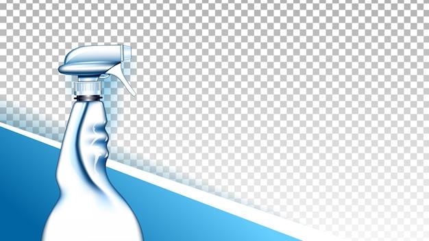 Detergent liquid blank spray copyspace vector
