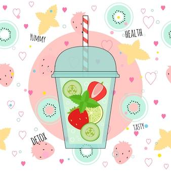 Detox smoothies illustration