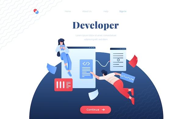 Developer landing page