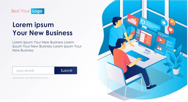 ビジネス向けソーシャルメディアデジタルマーケティングの開発