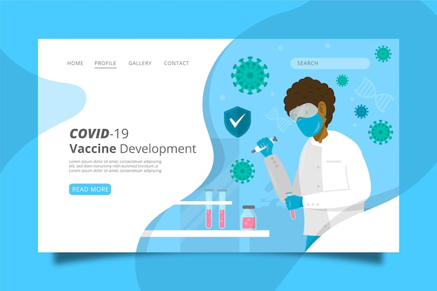 Developing treatment against coronavirus landing page