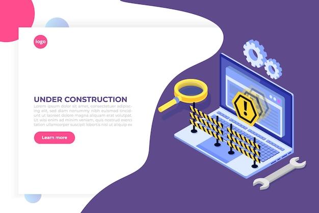 Developing web site, website under construction