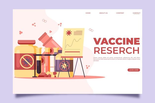 Development of coronavirus vaccine landing page