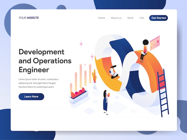 Development and operations engineer banner of landing page