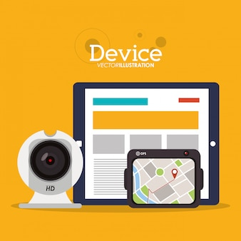 Device and icons design