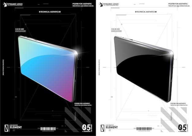 프리젠 테이션 템플릿 용 장치 ui / ux 모형.