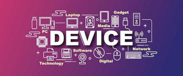 Device vector trendy banner