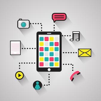 Devices communication concept