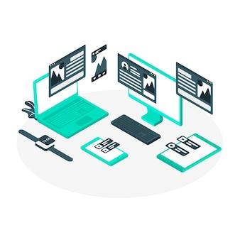 Devices concept illustration
