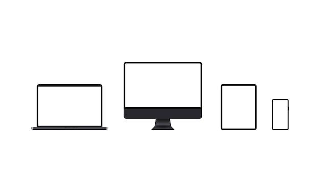 Набор иконок устройств в черном