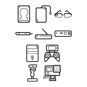 Devices icons collection
