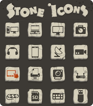 Devices vector icons for web and user interface design