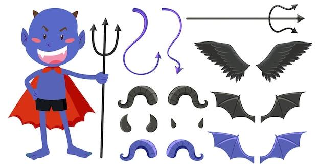悪魔と天使のデザイン要素