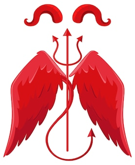 Devil and angel design elements
