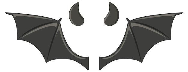 Elementi di design del diavolo e dell'angelo