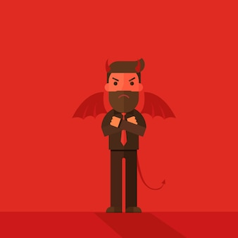Devil businessman character