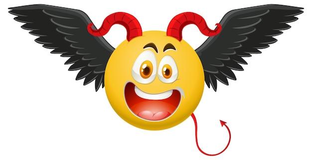 Смайлик дьявола с выражением лица