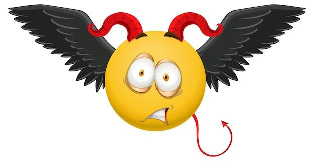 Emoticon del diavolo con espressione facciale