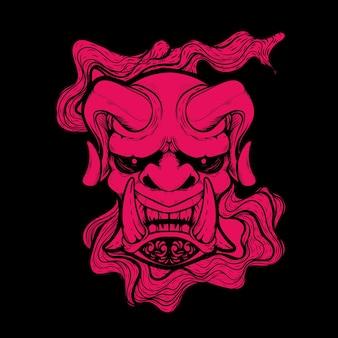 悪魔の顔のアートワークのイラスト