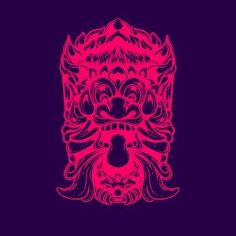 Devil face in indonesian mythology