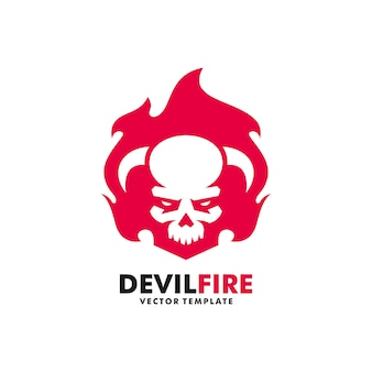 Devil fire illustration vector design template
