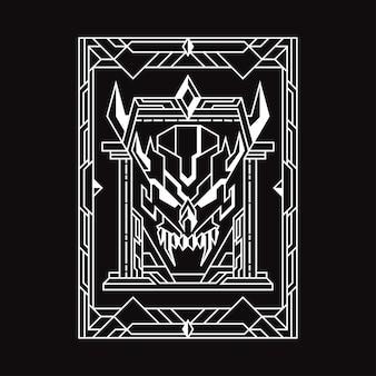 悪魔の門の幾何学イラスト