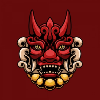 Devil head mascot illustration